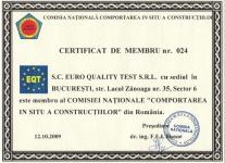 Certificat CNCiscC - Euro Quality Test