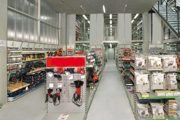 Sistem rafturi magazin scule profesionale