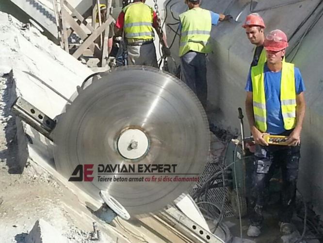 Taiere beton cu disc diamantat